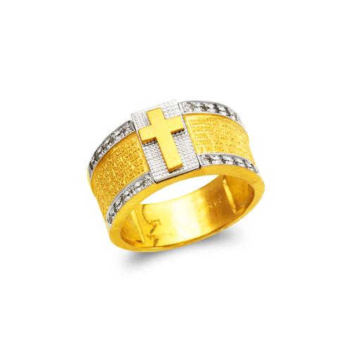 473-235 Men's Fancy Cross CZ Ring