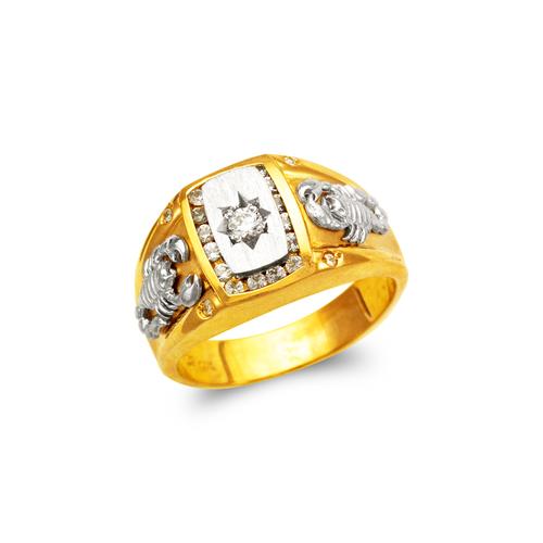 473-237 Men's Fancy Scorpion CZ Ring