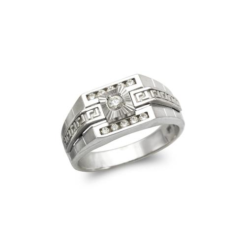 473-240W Men's Fancy White CZ Ring