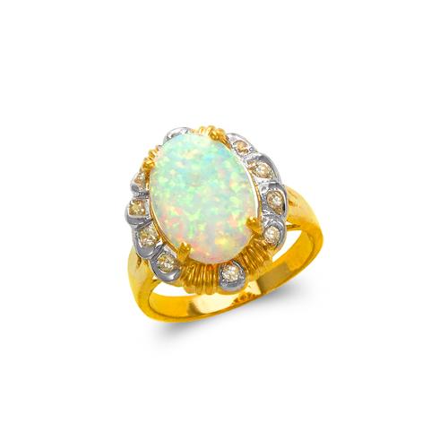 575-001 Ladies Opal CZ Ring