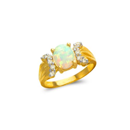 575-004 Ladies Opal CZ Ring