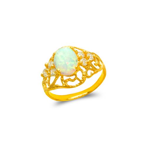 575-005 Ladies Opal CZ Ring
