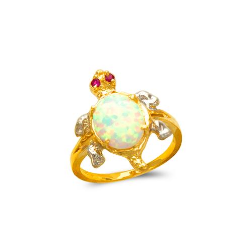 575-007 Ladies Opal Turtle CZ Ring