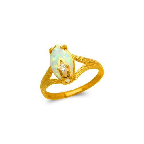 575-010 Ladies Opal CZ Ring