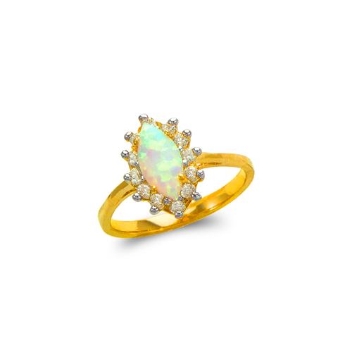 575-012 Ladies Opal CZ Ring