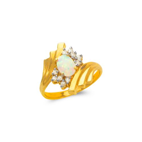 575-013 Ladies Opal CZ Ring