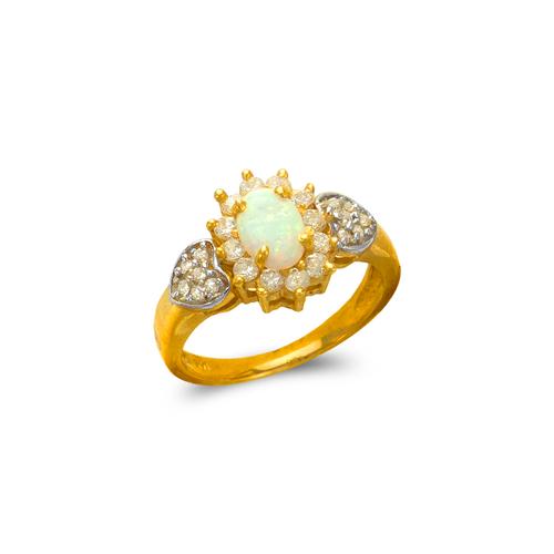 575-014 Ladies Opal CZ Ring