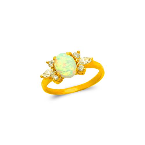 575-019 Ladies Opal CZ Ring