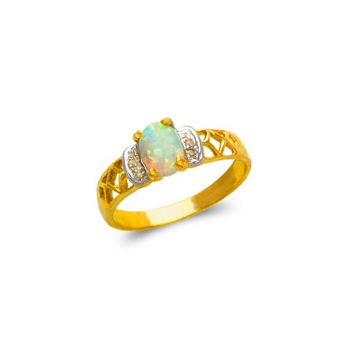 575-020 Ladies Opal CZ Ring