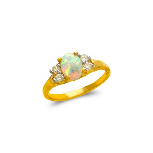 575-023 Ladies Opal CZ Ring