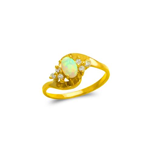 575-024 Ladies Opal CZ Ring