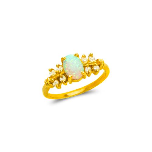 575-026 Ladies Opal CZ Ring