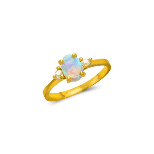 575-028 Ladies Opal CZ Ring