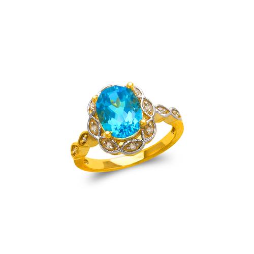 575-107A Ladies Mystic CZ Ring