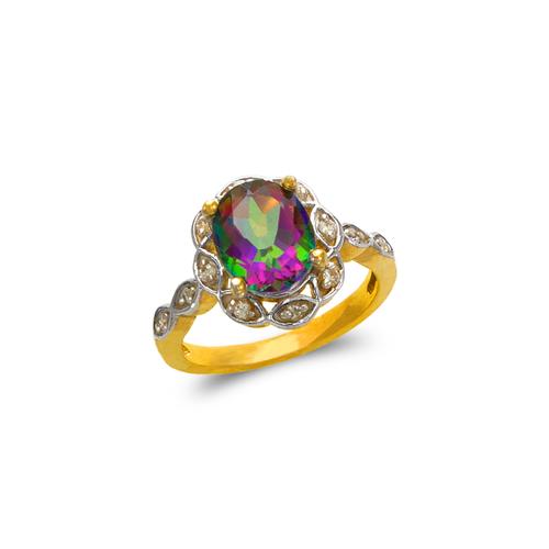 575-107B Ladies Mystic CZ Ring