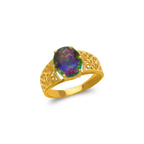 575-110A Ladies Mystic CZ Ring