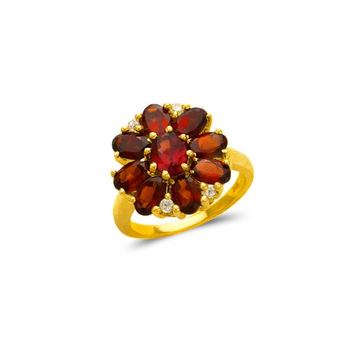 575-112A Ladies Mystic Flower CZ Ring