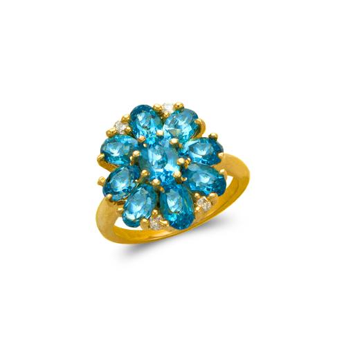 575-112B Ladies Mystic Flower CZ Ring