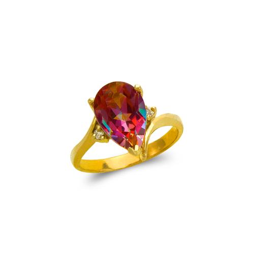 575-113 Ladies Mystic Teardrop CZ Ring