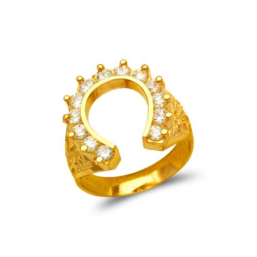 573-914 Men's Horseshoe CZ Ring