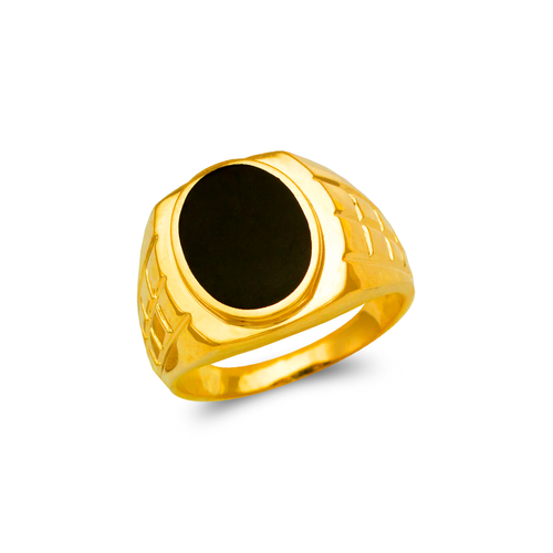 576-301 Men's Full Cut Onyx Ring