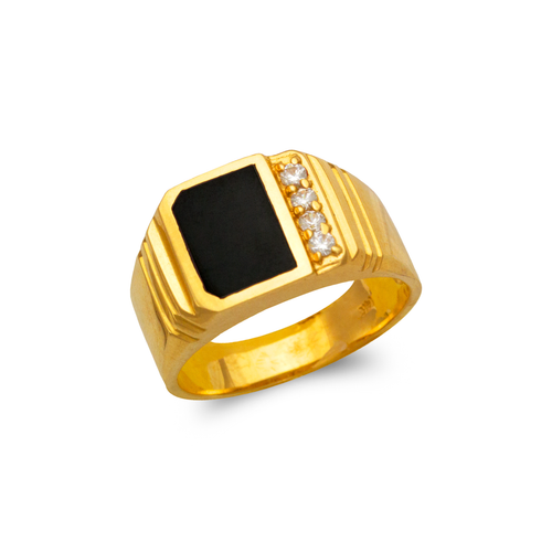576-306 Men's Full Cut Onyx Ring