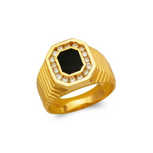 576-308 Men's Full Cut Onyx Ring