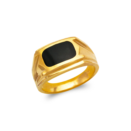 576-310 Men's Full Cut Onyx Ring