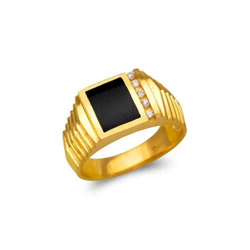 576-312 Men's Full Cut Onyx Ring