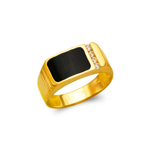 576-313 Men's Full Cut Onyx Ring