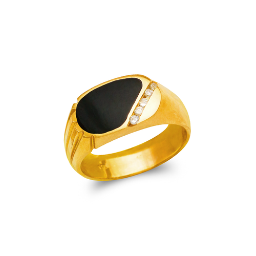 576-322 Men's Full Cut Onyx Ring