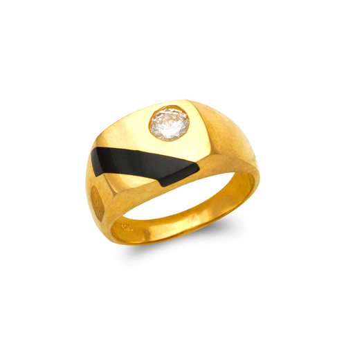 576-330 Men's Full Cut Onyx Ring
