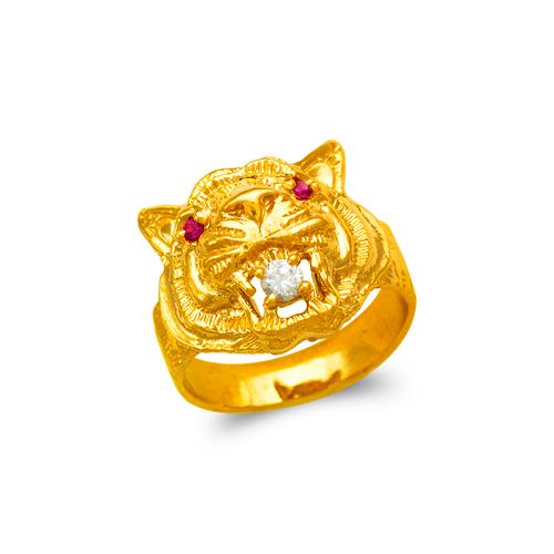578-007 Men's Tiger Head Ring