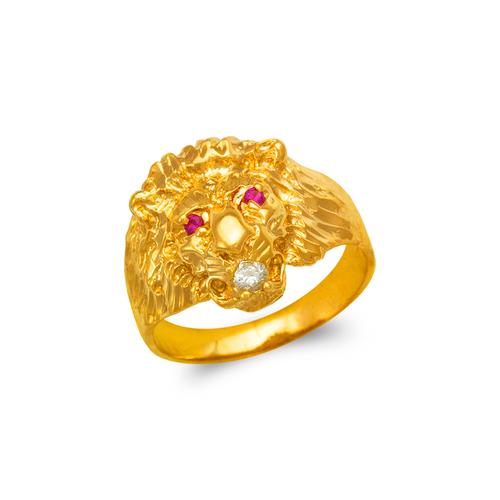 578-008 Men's Lion Head Ring