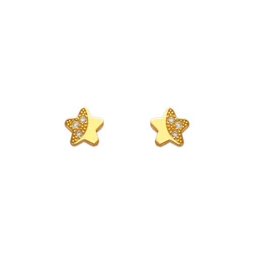 343-123 Star Pave CZ Stud Earrings