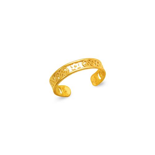 672-017 Flower Knuckle/Toe Ring