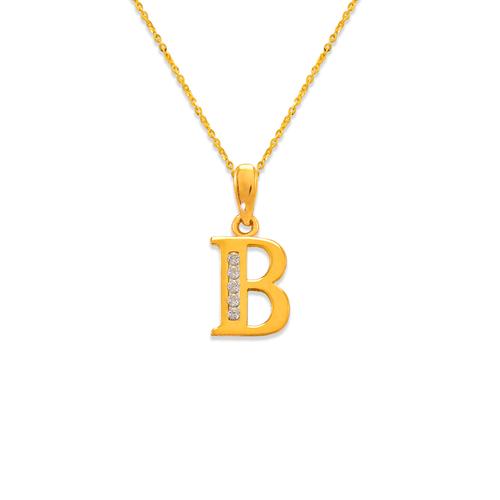 "583-101B Initial ""B"" Pendant"