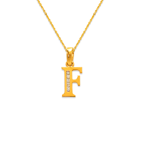 "583-101F Initial ""F"" Pendant"