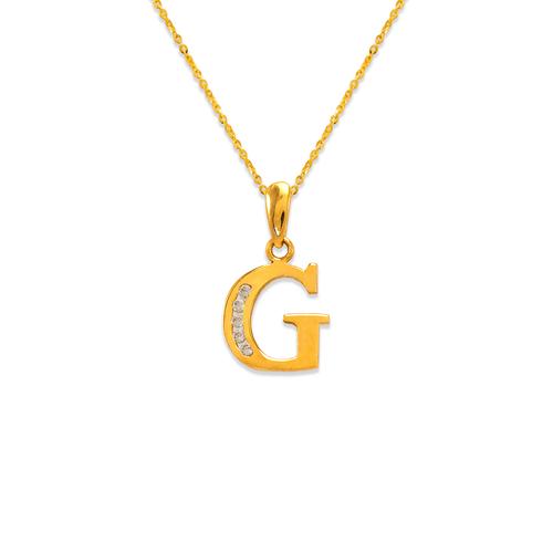 "583-101G Initial ""G"" Pendant"