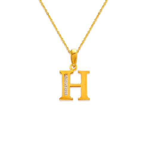 "583-101H Initial ""H"" Pendant"