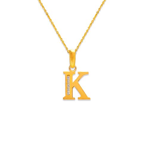 """583-101K Initial """"K"""" Pendant"""