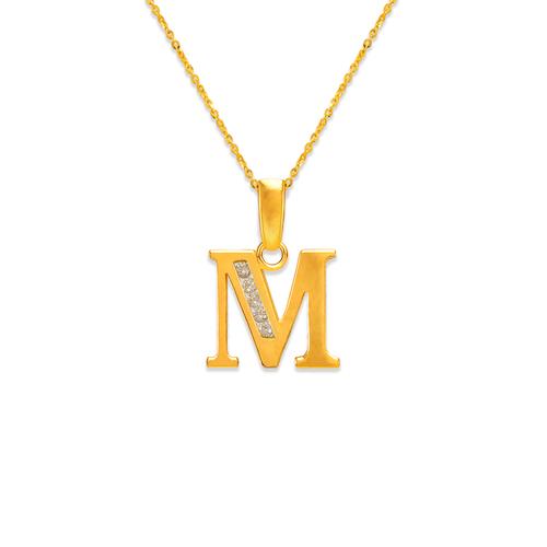 """583-101M Initial """"M"""" Pendant"""