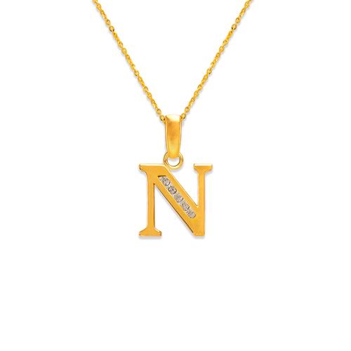 """583-101N Initial """"N"""" Pendant"""