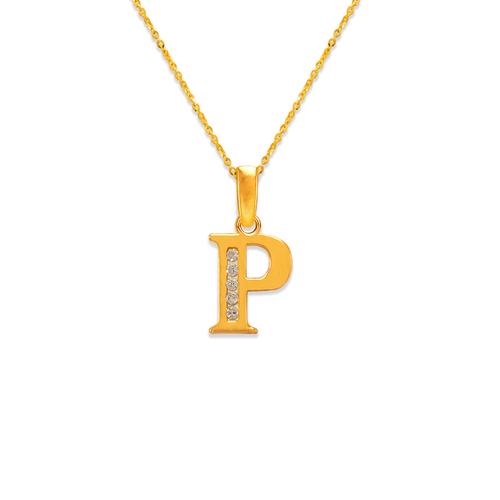 """583-101P Initial """"P"""" Pendant"""