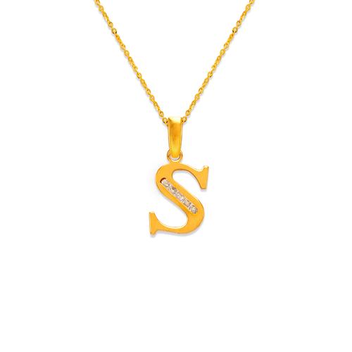 """583-101S Initial """"S"""" Pendant"""
