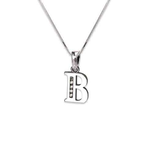 "583-101WB Initial ""B"" Pendant"