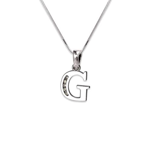 """583-101WG Initial """"G"""" Pendant"""