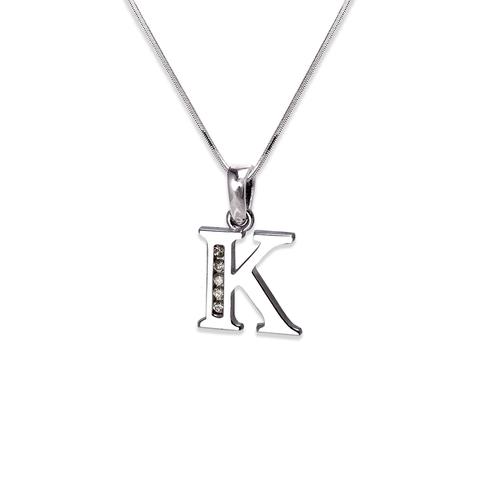"""583-101WK Initial """"K"""" Pendant"""