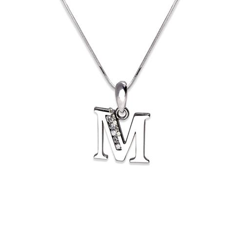 """583-101WM Initial """"M"""" Pendant"""