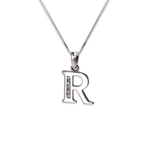 """583-101WR Initial """"R"""" Pendant"""